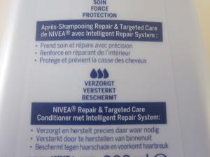 nivea targeted care