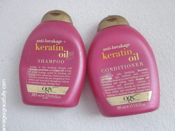 OGX Keratin Oil Shampoo Conditioner