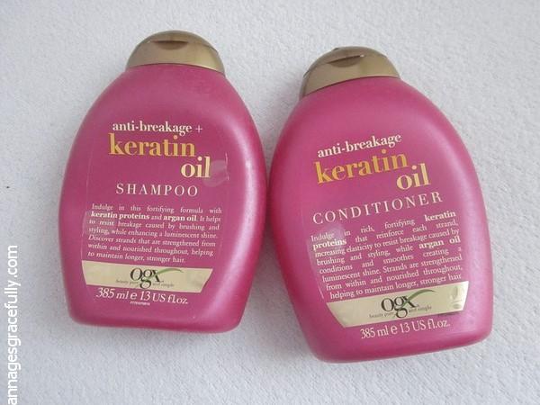 OGX Keratin Oil Shampoo Conditioner