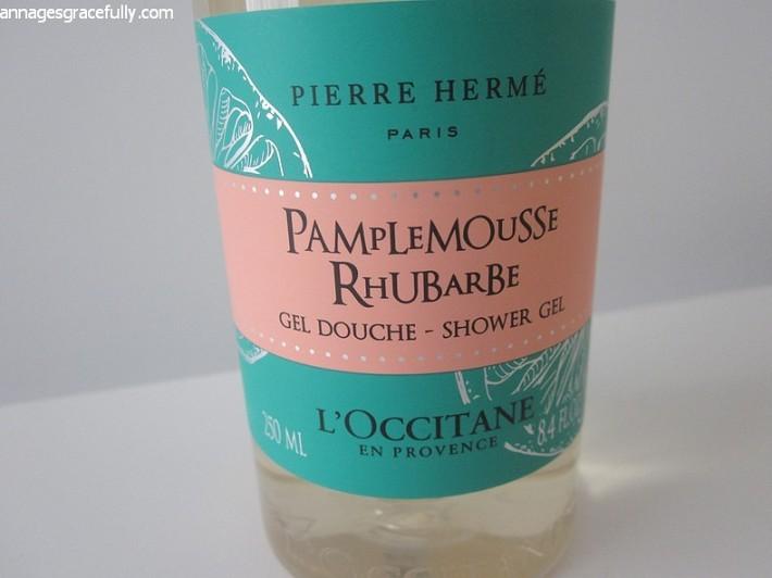 l'occitane pamplemousse rhubarbe douchegel