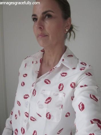 Chiffon blouse lippen