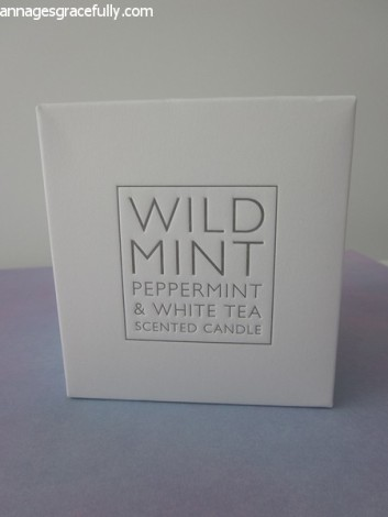 White Company Wild Mint & White Tea scented candle