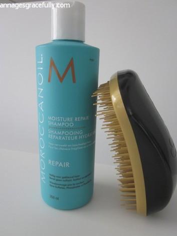 Moroccainoil shampoo Dessata anti klit borstel