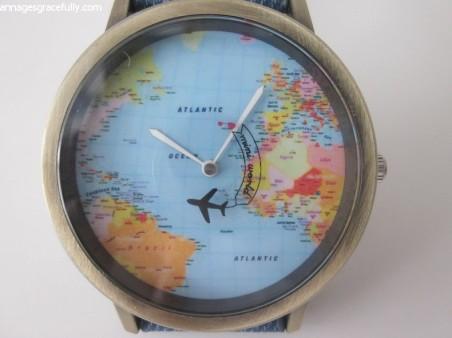 wereldkaart horloge