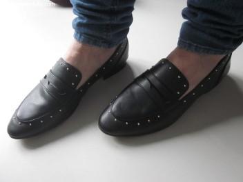 H&M zwarte loafer met studs