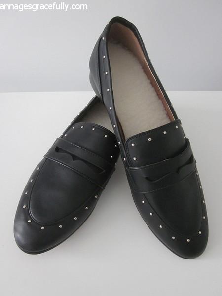 H&M zwarte loafers met studs