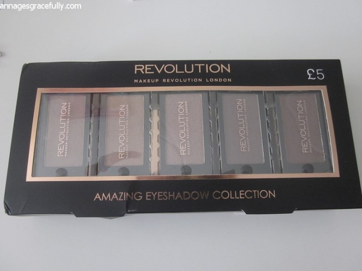 Revolution Cappuccino eyeshadow collection