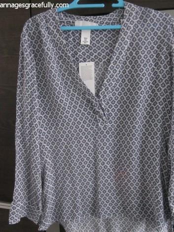 H&M shirt met print