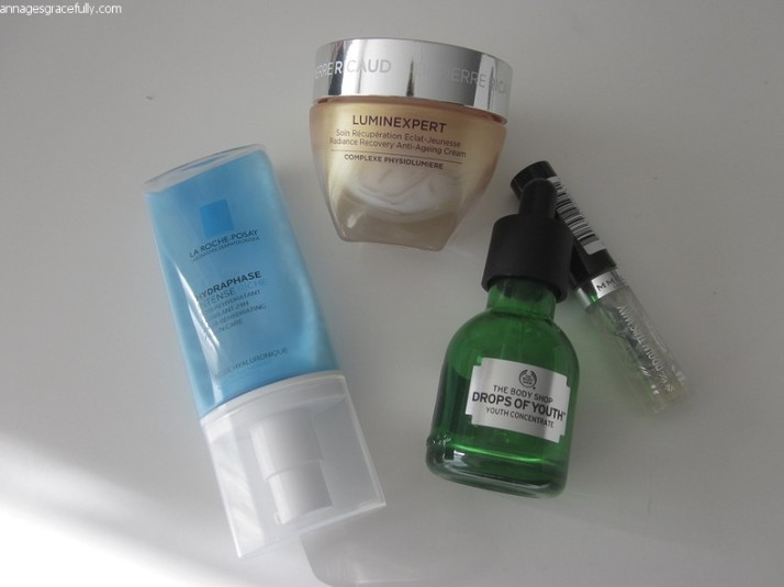 La Roche-Posay, Drops of youth, rimmel eyebrow gel, Luminexpert, Dr. Pierre Ricaud