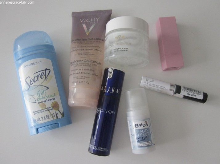 Secret deodorant; Roger & Gallet; Vichy; Talika