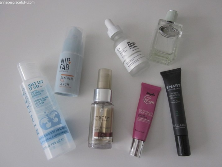 Nip+Fab serum;Douglas Age Focus;Prada infusion d'iris;The ordinary niacimide