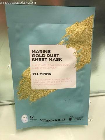 Vitamasques marine gold dust sheet mask