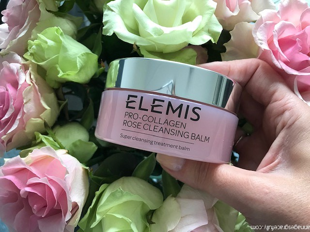 Elemis pro-bollagen rose cleansing balm